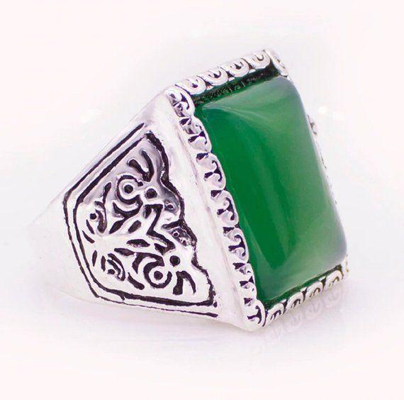 bague homme pierre de jade