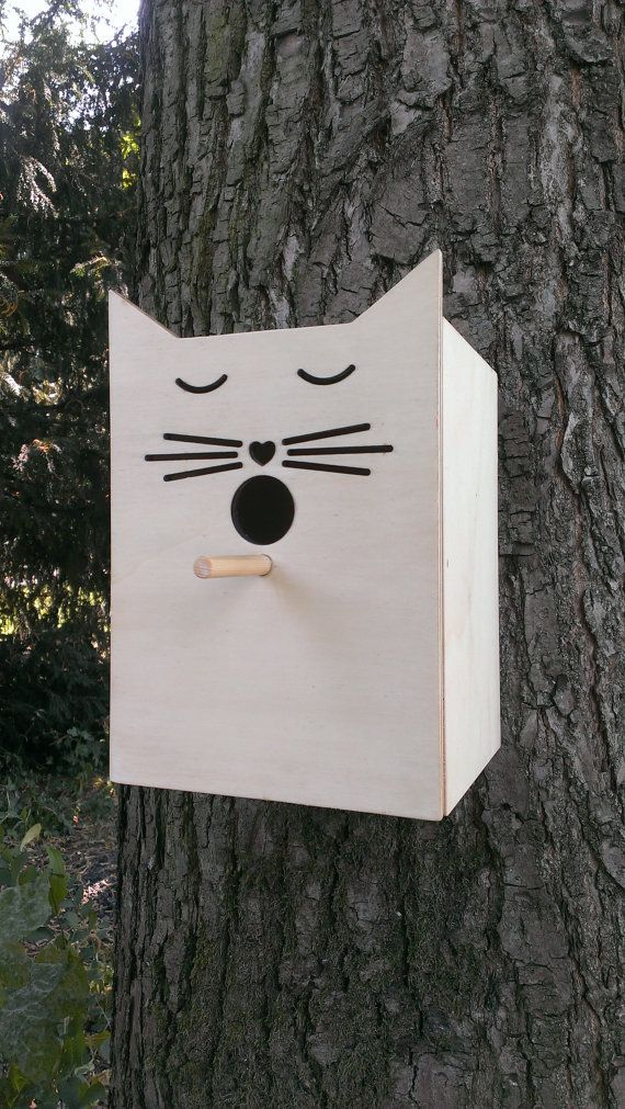 Hey, I found this really awesome Etsy listing at https://www.etsy.com/listing/154518160/bird-house-cat
