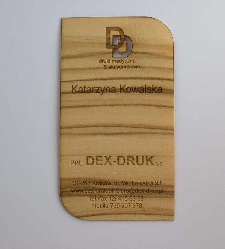 Esclusiva realizzazione dei nostri Dex-Druk Wood Business Cards in legno di OLIVO micro sottile: info@dex-druk.pl