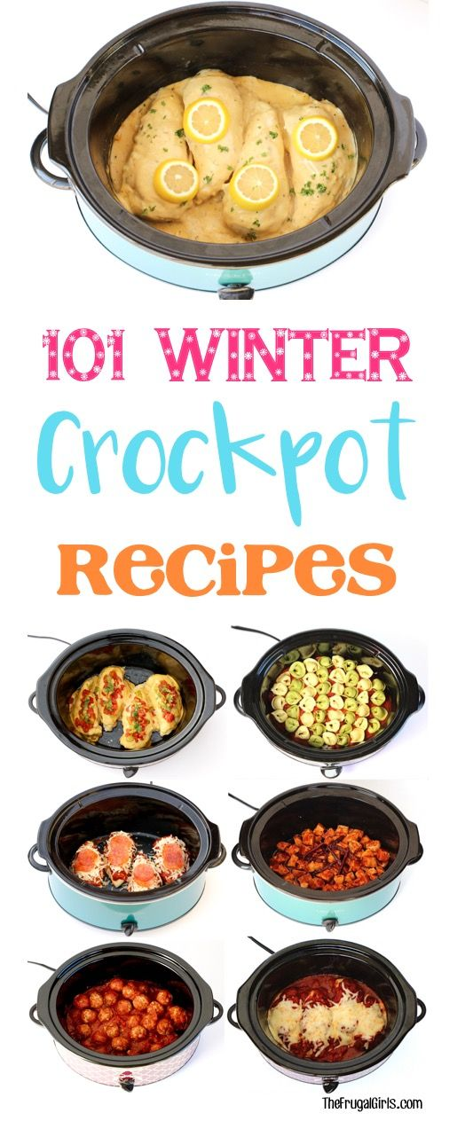 101 Winter Crockpot Recipes!  HUGE collection of Easy and Delicious Crock Pot Dinners, Drinks and Desserts... perfect for chilly winter nights! | TheFrugalGirls.com