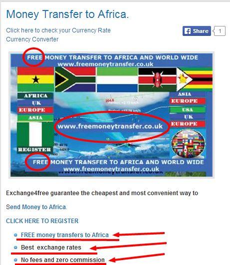 No commission exchange money