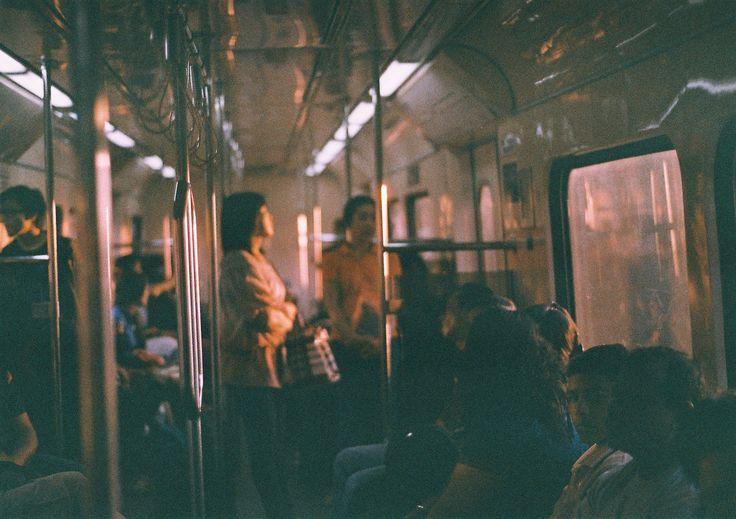 Evening train ride. Nikon FM10 + Kodak Ultramax 400
