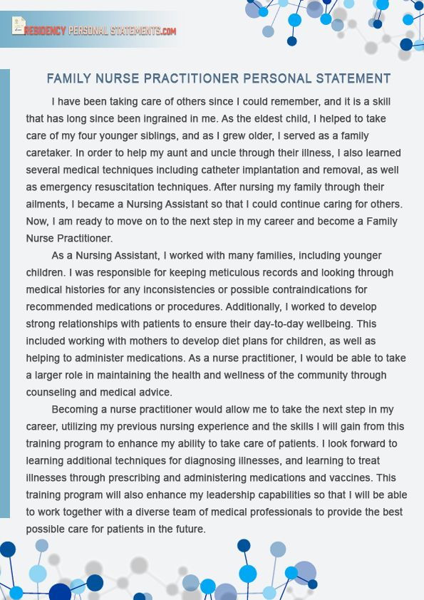 Personal Statement For Nursing School Inspirational Pin By Example Family Nurse Practitioner Essay Examples