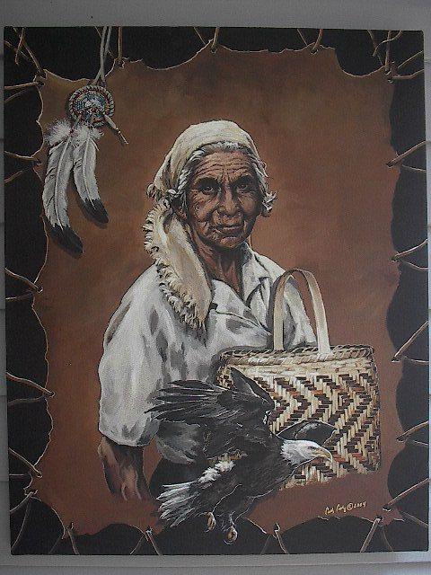 Cherokee Indian  Beloved Woman Maggie Wachacha by Brushedmemories, $50.00