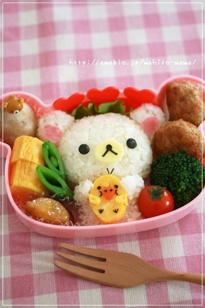 korilakkuma rice ball, you can get this bento box at http ...