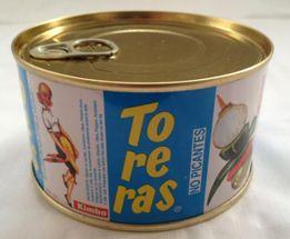 TO-RE-RAS 400 No Picantes 370 Gr. Banderilla compuesta por cebolla, pepino, aceituna y pimiento. Presentada en palo de madera y enlatada.  Caja de 24 unidades.