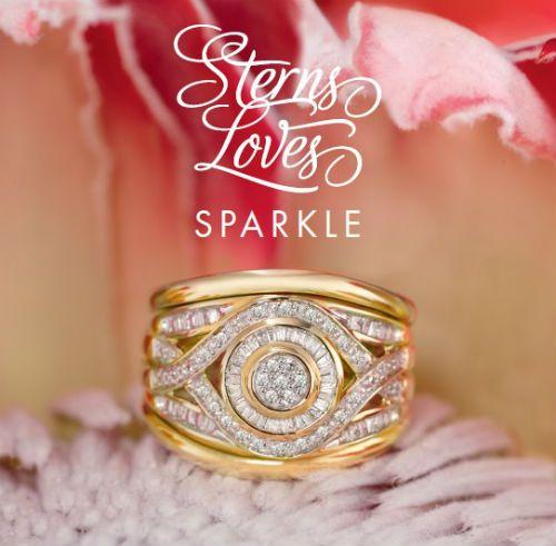 Stunning 9ct Gold And Diamonds Ring Www Sterns Co Za