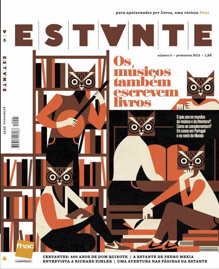 Revista Estante nº 5 - Os músicos também escrevem livros. Ilustração de Tiago Albuquerque. Edição de Adagietto - http://www.adagietto.pt #revistaestante #tiagoalbuquerque #revistas #magazines
