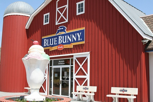 Well's Blue Bunny Ice Cream this was in my home town of ...