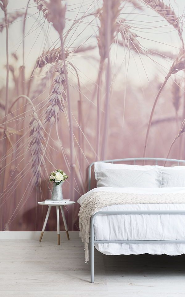 Create A Beautifully Serene Space With These Sunset Wallpaper Ideas For A Cute Girly Bedroom Wallpaper Design For Bedroom Colorful Interiors Wallpaper Bedroom