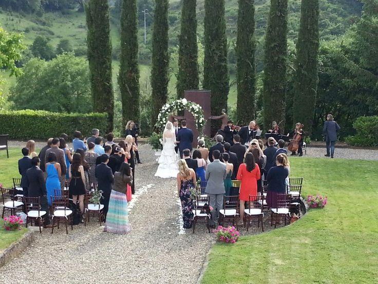 Ceremony at villa la selva