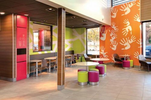 Mcdonald 39 S Fast Food Restaurant Redesign With Colorful Dining Area Mcdonalds Fast Food