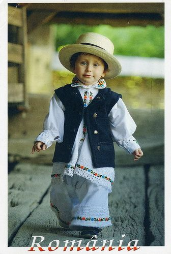 The boy Dressed In Maramures Costume, Romania