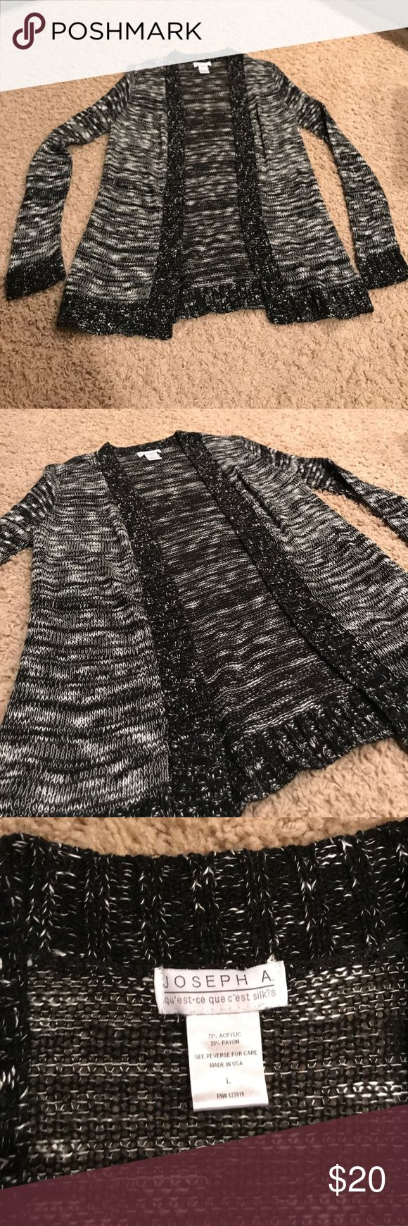 Black and white cardigan! Black and white cardigan. Gently worn. Very soft and cozy! Joseph Allen Sweaters Cardigans