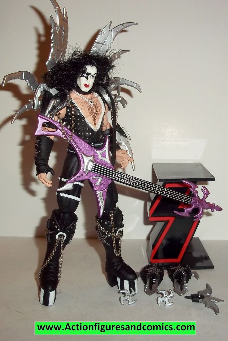 Spawn KISS action figures PAUL STANLEY 1997 complete todd mcfarlane toys