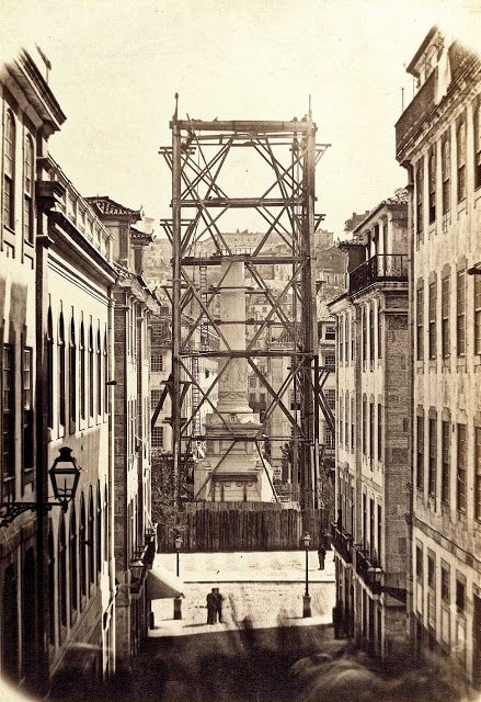 Rossio (da Calçada do Carmo) - 1869