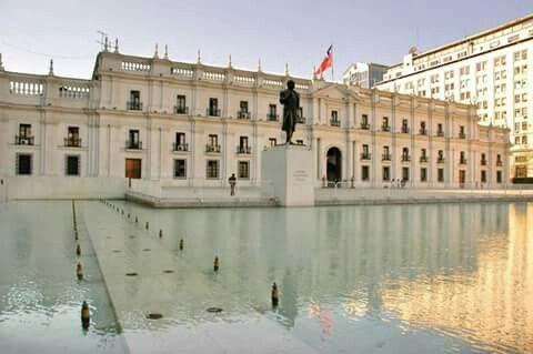 La Moneda Presidential Palace, downtown Santiago, Chile.