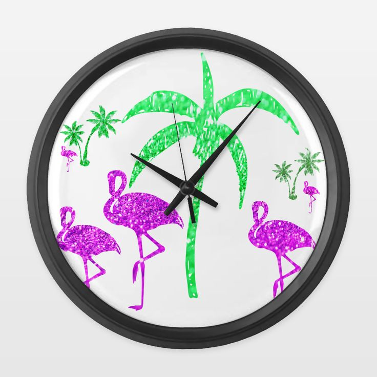 Shop for unique nursery art like the Flamingos Wall Clock by haroulita on BoomBoomPrints today!  Customize colors, style and design to make the artwork in your baby's room their own!