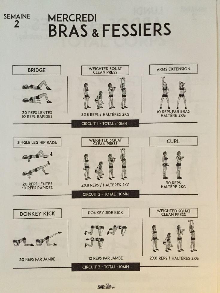 TBC 1 Semaine 2 Lundi Fitness Pinterest Gym, Workout and Yoga - faire un plan de maison gratuit