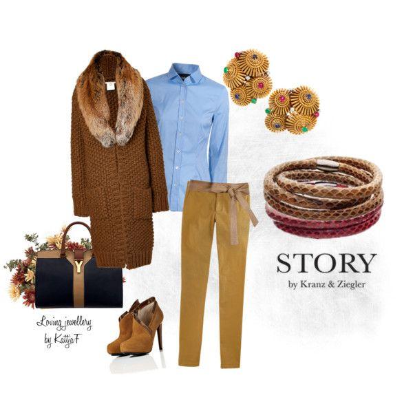 """Vintage earrings and STORY bracelet"" by kattjaf on Polyvore"