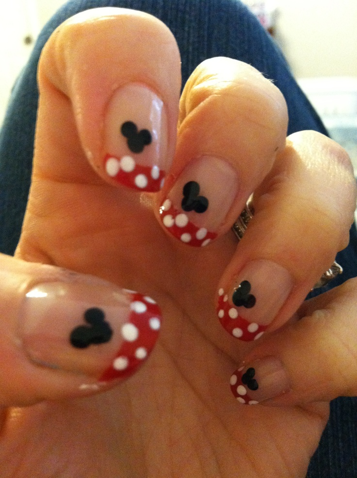 Going to Disney soon!!!Mickey Mouse nails