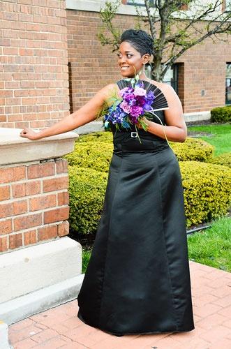 Purple and Black Orchids- Asian Fan bridal bouquet :: Metro Detroit Michigan wedding bouquets,centerpieces, wedding flowers,