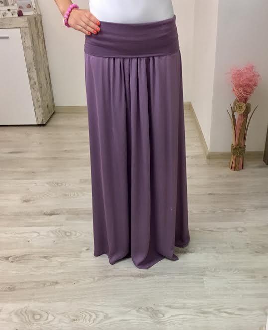 Maxi sukňa fialová
