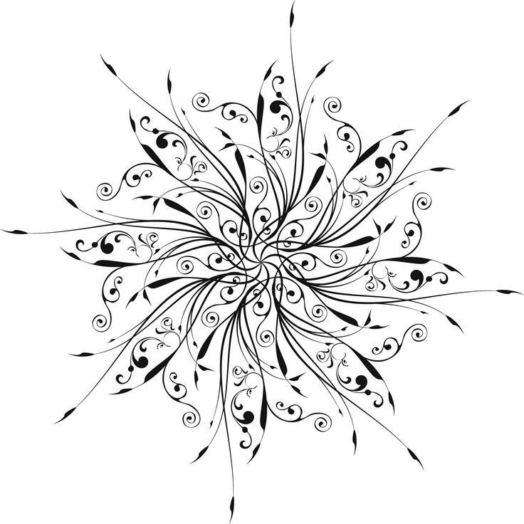 Snowflake Tattoo   Freebie circular designs 1300.1300