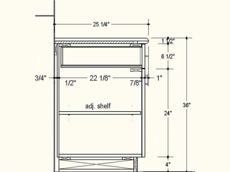 Proper Depth For Frameless Cabinets