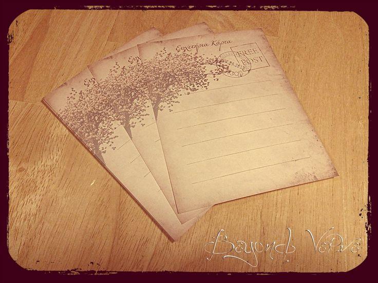 Carte postale wish cards - Cherry tree - Vintage wedding stationery - Beyond Verve