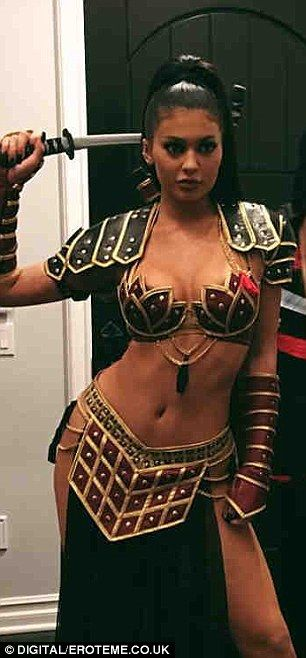 Lucy flawless: On Saturday Kylie, dressed as a samurai-inspired Xena Warrior Princess for ...