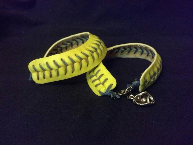 Softball Lace Bracelets by BASEBALLWISHES on Etsy