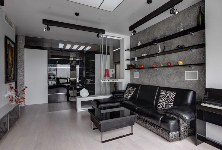 Фото интерьера зоны отдыха квартиры в стиле минимализм