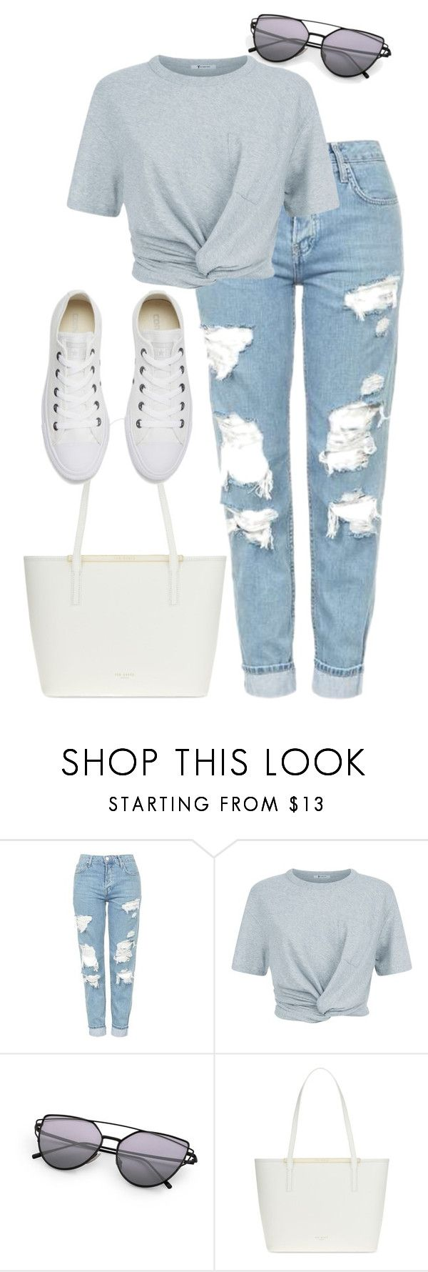 """Untitled #252"" by epiphany-of-life on Polyvore featuring Topshop, T By Alexander Wang, Ted Baker and Converse"