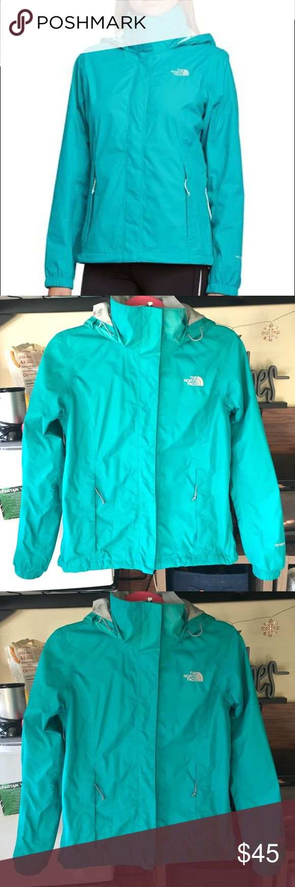 The North Face Resolve Jacket teal jacket. water resistant and great for fall/spring weather. I love this jacket, just ready for a new color! Great condition. The North Face Jackets & Coats