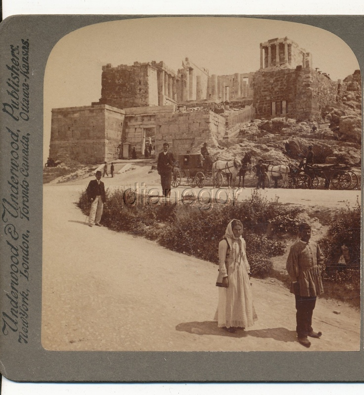 Carriage Propylaea Acropolis Nike Temple AthensGreece Underwood Stereoview 1907 | eBay; From Greece through the Stereoscope by Rufus R. Richardson PH.D.