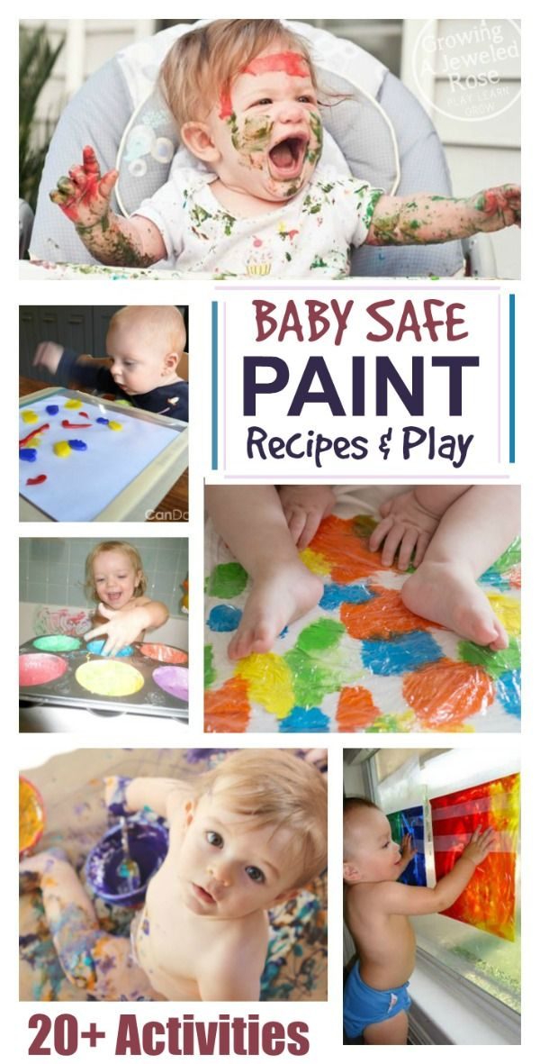Best 25 baby art activities ideas on pinterest baby for Craft paint safe for babies