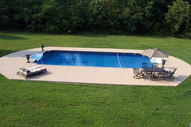 Little inground pools google search outdoor living for Simple inground pool designs