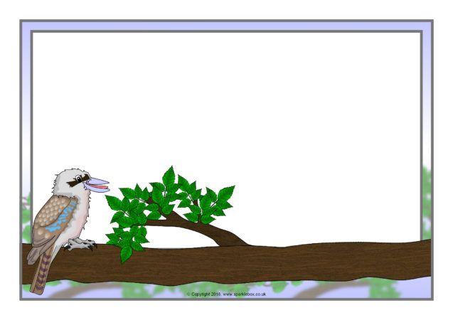 Kookaburra A4 Page Borders (SB12396) - SparkleBox