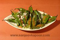 Bharli Mirchi (A famous Maharashtrian dish made of stuffed green Bhavnagri chillies)