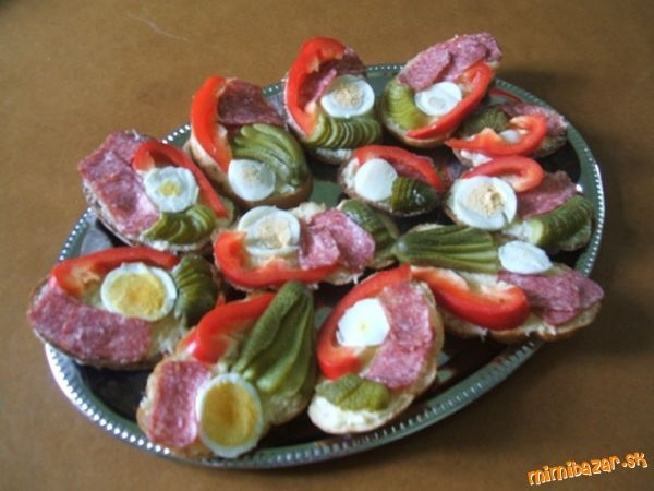 .appetizers, finger food - from Czech Republic - Chlebicky......delicious.....