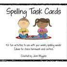 This packet has over 40 fun activities for your weekly spelling words.  You can use them for homework ideas or center activities.  Have fun!...