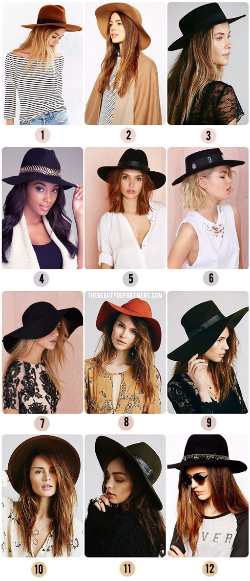 wide brim hats asos free people urban outfitters nasty gal via the beauty department