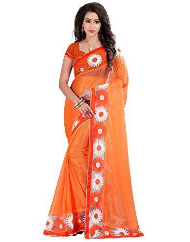 Fabulous Orange Color Lycra Embriodered Designer Party We…