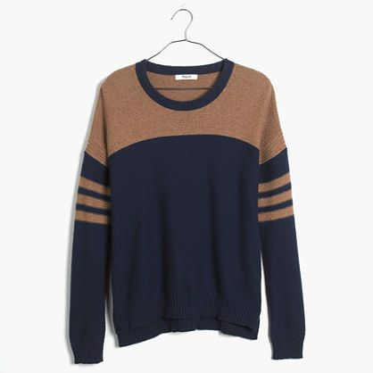 Madewell Colorblock Texturework Sweater