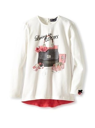 56% OFF Blumarine Girl's Handbag Tee (White)