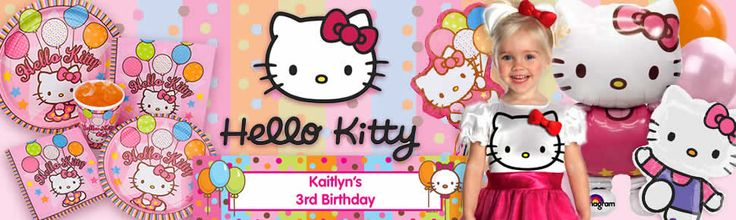 Hello Kitty Party party supplies, decorations and invitations Very Low Prices.