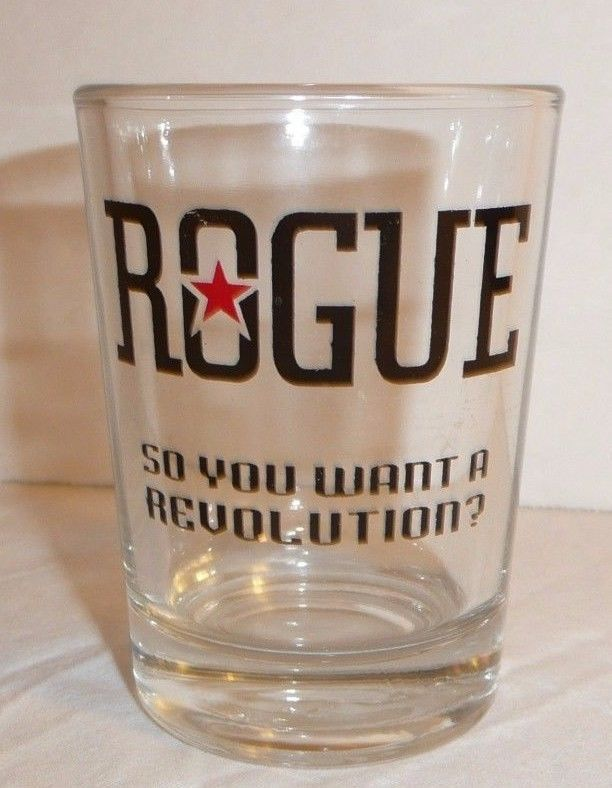 """Rogue Ale Beer Tasting Glass """"So You Want A Revolution"""" Taster Shooter Shot Beer"""