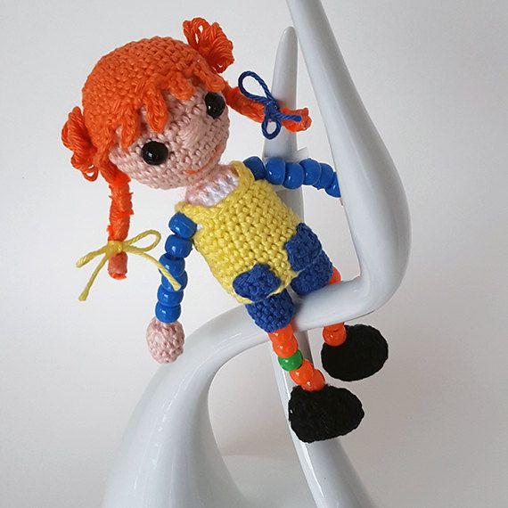 Crochet Pippi Longstocking doll. Astrid Lindgren by LilCuddles