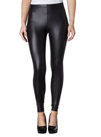 Black wet look legging